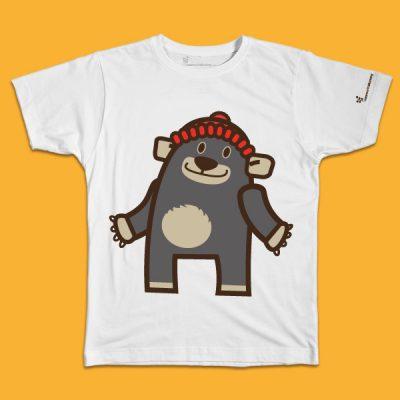maglietta per bambino con il disegno di un orsetto birbante, t-shirt for kids with a little bear, disegnata da Ardoq