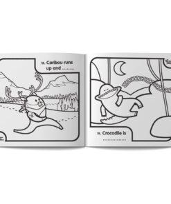 pagine dal libro da colorare in inglese per bambini Fun with colour di Learn with Mummy, disegnato da Ardoq