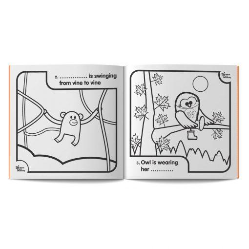 pagine dal libro da colorare in inglese per bambini 1,2,3 colour di Learn with Mummy, disegnato da Ardoq