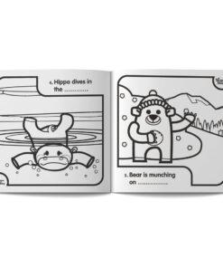 pagine dal libro da colorare in inglese per bambini English and colour di Learn with Mummy, disegnato da Ardoq
