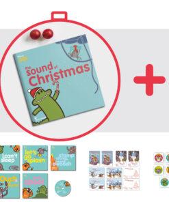 copetina dei libri Learn with mummy in the jungle con cartoline natalizie e adesivi disegnati da Ardoq