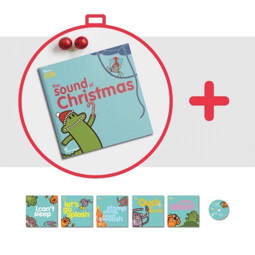 le copertine dei libri in inglese per bambini The Sound of Christmas e della serie Learn with Mummy in the Jungle disegnata da Ardoq per Learn with Mummy