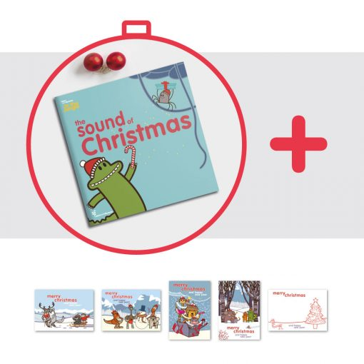 il libro di natale in Inglese per bambii The Sound of Christmas e le cartoline disegnate da Ardoq per Learn with Mummy