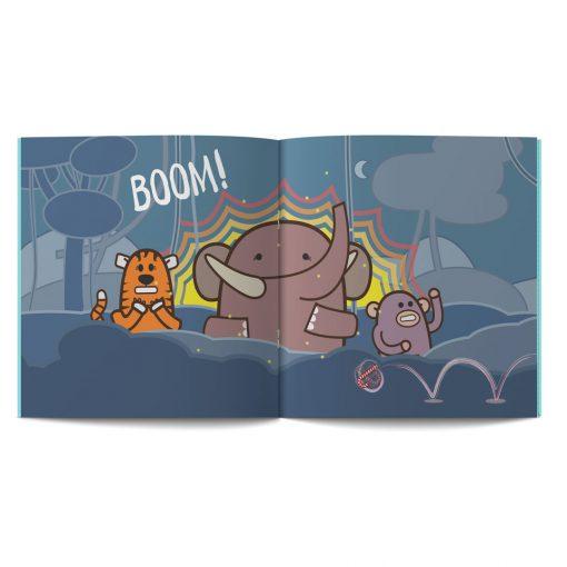 pagine 14 e 15 dal libro in inglese per Bambini The sound of Christmas disegnato da Ardoq per Learn with Mummy