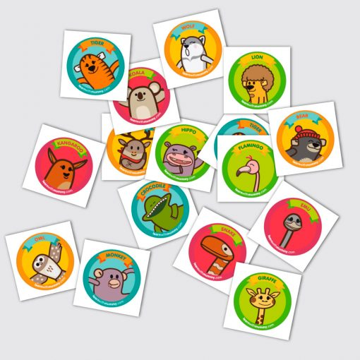Stickers con i personaggi Learn with Mummy disegnati da Ardoq