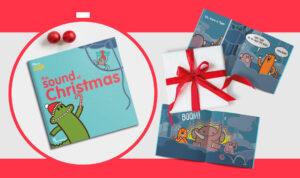 The Sound of Christmas, copertina e pagine interne libro