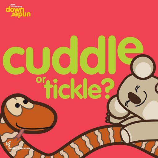 copertina del libro illustrado da Ardoq in Inglese per bambini cuddle or tickle edito da Learn with Mummy