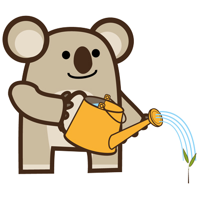 disegno di Koala, personaggio dei libri in Inglese per bambini illustrati da Ardoq ed editi da Learn with Mummy