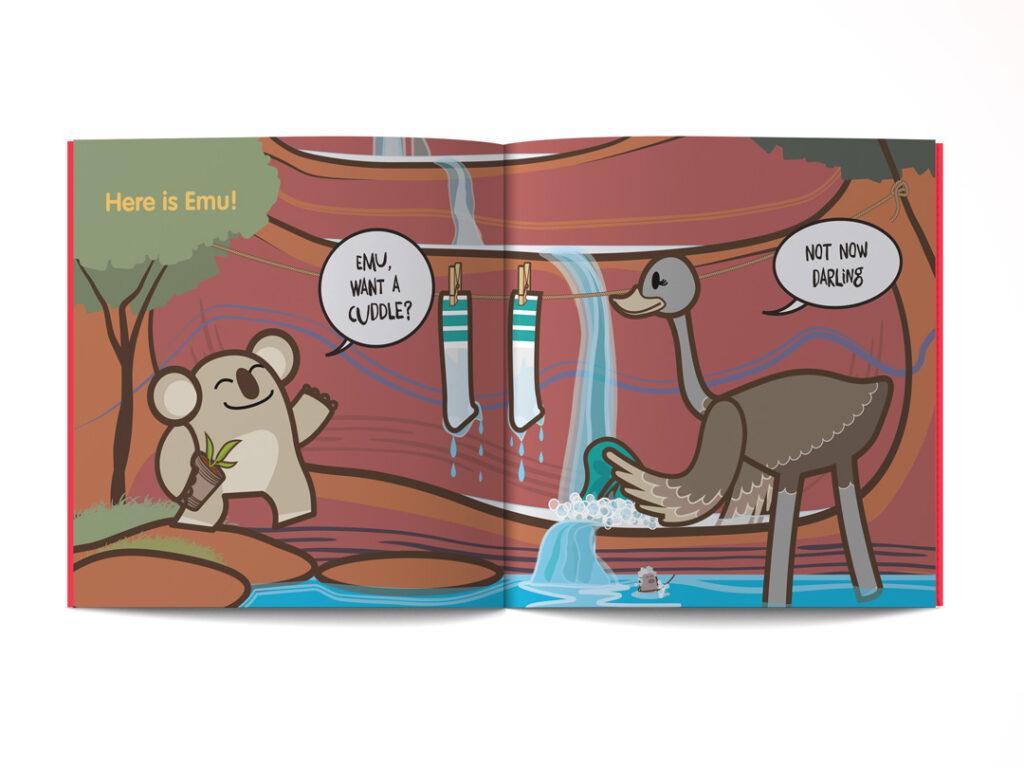 pagine dal libro illustrato in Inglese per bambini Cuddle or Tickle ? di Learn with Mummy, disegnato da Ardoq