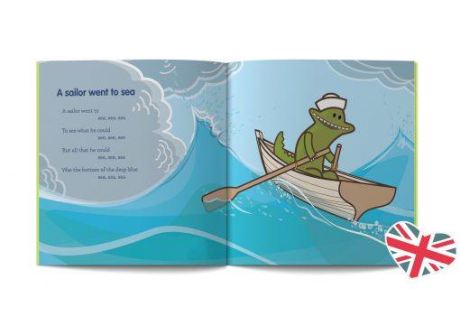 pagine del libri di canzoni e filastrocche in inglese illustrato da Ardoq per Learn with Mummy